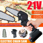 Cordless Electric Chainsaw Wood Mini Cutter 550W One-Hand Saw Woodworking