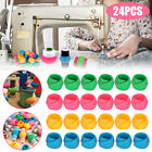 24Pcs Silicone Thread Spool Huggers Sewing Holder Bobbins Clip Clamp DIY Tool