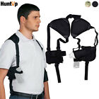 Tactical Concealed Carry Shoulder Gun Pistol Holster with Double Magazine Pouch