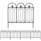 Garden Fence Black Folding Wire Patio Fencing Border Edging Flower Barrier Decor