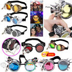 New Popular Steampunk Goggles ABS Plastic Frame+ Gothic Retro Cosplay Glasses US