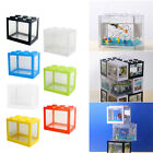 Clear Betta Fish Tank Mini Desktop Aquarium Kit Building Blocks Fish Box