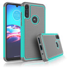 For Motorola Moto E 2020 Shockproof Case Cover + Tempered Glass Screen Protector