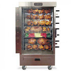 SOUTHWOOD RG7 7-Spit Gas Rotisserie, NG/LP, Casters!
