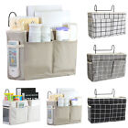 Bedside Caddy Hanging Storage Bag Pocket Wall Holder Container Organizer Home