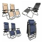 2 PCS Zero Gravity Chair Lounge Patio Chairs Beach Chair with Cup Holder OSHION