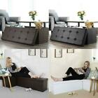 Storage Bench Ottoman Chest Collapsible Folding Foot Rest Faux leather Footstool
