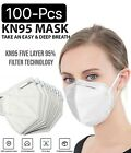 Lot 10-100 White Kn95 Protective 5 Layer Face Mask Disposable Respirator Bfe 95%
