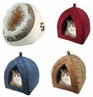 Luxury Pet Igloo Bed house for Cats Dogs Soft Comfy