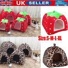 Pet Cat Dog Nest Bed Puppy Soft Warm Cave House Winter Sleeping Igloo Kennel