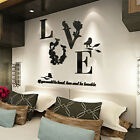 3d Diy Removable Self Adhesive Flower Love Wall Sticker Home Room Decoration