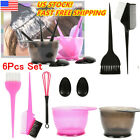 Hair Dye Color Brush Bowl Set Ear Caps Dye Mix Tint Dying Coloring Tool US!