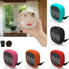 Touch screen alarm clock, large screen silicone sound control electronic clock