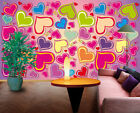 3D Red Heart ZHUA2823 Wallpaper Wall Murals Removable Self-adhesive Zoe
