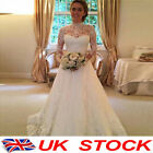 White Princess Marriage Wedding Dress Bridal Ball Gowns Formal Dresses Size 8-14