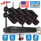 ANRAN Home Security Camera System Wireless Outdoor Waterproof 1080P 8CH WiFi 2TB