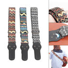 Adjustable Woven Embroidery Guitar Strap Acoustic Electric Guitars Bass Belt for sale