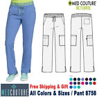 Med Couture Scrubs ACTIVATE Women's Boot Cut Cargo Pocket Elastic Waistband Pant