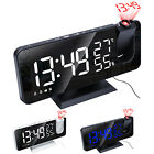 7.5 LED Digital Projector Projection Snooze Dual Alarm Clock FM Radio Timer USB