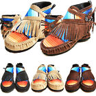 Ethnic Tassel Ankle Boots Flat Moccasin Women Winter Casual Booties Shoes Size