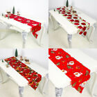 Christmas Table Runner Home Polyester Tablecloth  Party Xmas Cover Table Decor