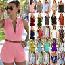 Summer Women Mini Playsuit Romper Jumpsuit Party Holiday Casual Shorts Hot Pants