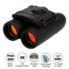 30x60 Day Binoculars 10x Outdoor Hunt Folding Shooting Travel Telescope +Ba
