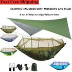 2 Person Camping Hammock Tent Mosquito Net+Waterproof Rainfly Tarp Shelter Cover