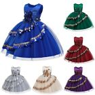 3-12 Years Girls Sequin Lace Wedding Party Flower Kids Prom Gown Princess Dress