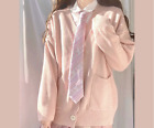Girl Knitted Sweater Coat Cardigan Jumper Top Preppy Japanese Style JK Cute