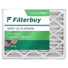 FilterBuy 20x25x6 AC Air Filters Aprilaire Space Gard 201 Compatible (MERV 13)