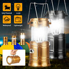 Solar Portable 6 LED Rechargeable Camping Lantern Collapsible Flashlight Lamp US