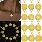 Fashion A-z Letter Gold Initial Alphabet Pendant Necklace Women Jewelry Gift New