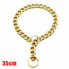 Training DOG Collar Cats Pets Cuban Link Thick Chain Necklace Gold 35/45/55Cm US