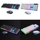Gamer USB Wired Keyboard Mouse Kit Combo 7color-backlight for Computer