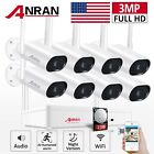 ANRAN Home Security Camera System Wireless Outdoor 3MP WiFi 1/2TB Hard Drive Kit