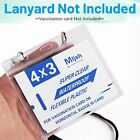 50 Pack CDC Vaccination Card Protector 4 X 3 Holder Clear Sleeve Waterproof Zip