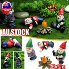 1/4pcs Naughty Gnome Statue Garden Outdoor Decoration Diy Resin Ornaments Funny