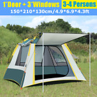 6-7 People Large Waterproof Automatic Outdoor Instant Pop Up Tent Camping Hiking