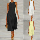 Womens Elegant Jumpsuit Summer Casual Playsuit Wide Leg Overalls Loose Dungarees