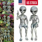 Outer Space Alien Adornment Garden Resin Statue Figurines Home Decor Gifts New
