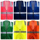 Mesh Reflective Safety Vest With Pockets In A Varieties Of Colors Of Your Choice