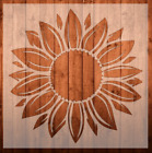 Sunflower Plastic Reusable Stencil *FAST SHIPPING* Multiple Sizes Available