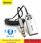 Baseus Bluetooth 5.0 Handsfree USB AUX Car Adapter Receiver 3.5mm Dongle Cable
