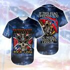Confederate - Rebel Till I Die Baseball Jersey Size S-5XL