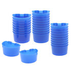 30 Pieces Pigeon Quail Chick Coop Feeder Cups Plastic Food Water Sand Cups