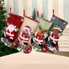 Christmas Stocking Socks Ornament Xmas Tree Party Hanging Gift Candy Bags Decor