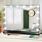 Hollywood Vanity Makeup Mirror with Lights LED Lighted Tabletop Dimmable Black