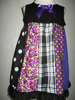 NEW Baby Girls Black,Red,White,Purple Mix Styles Patchwork Top/Dress,Gift,Party
