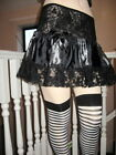 NEW Goth Black,Grey Beetle,Bug Couture Silk Lace Skirt
